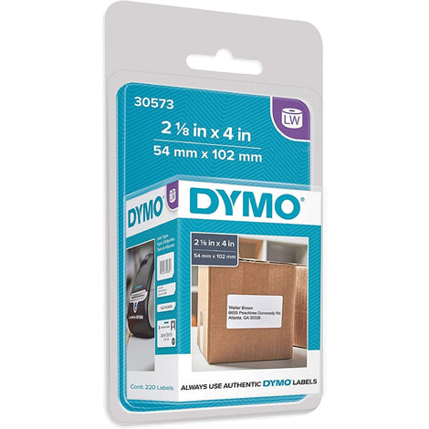 "DYM30573 DYMO LW LABELS WHITE 220 SHIPPING 2.125"" x 4"""