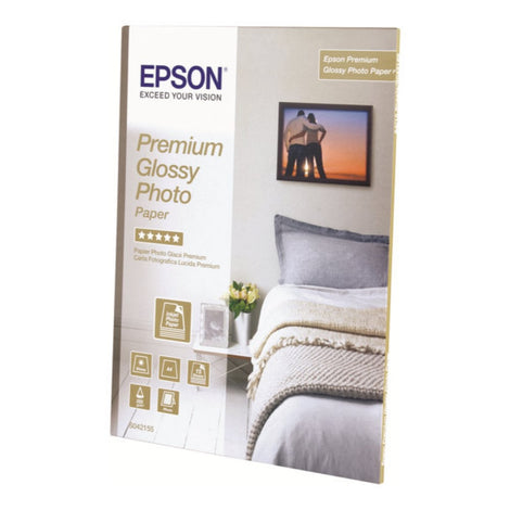 EPSS042183 Epson Premium Glossy Photo Paper - High-glossy - resin coated - 10.4 mil - bright white - Letter A Size (8.5 in x 11 in) - 252 g/m² - 25 sheet(s) photo paper - for EcoTank ET-3600; Expression ET-3600; WorkForce ET-16500