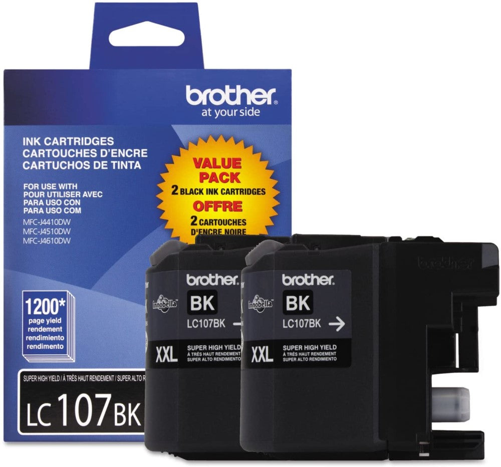 BROTHER LC1072PKS (ORIGINAL) DUAL PACK