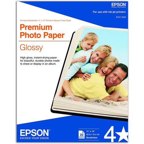 EPSS041466 Epson - Glossy - 11 in x 14 in 20 sheet(s) photo paper - for Stylus Pro 3800, Pro 3880