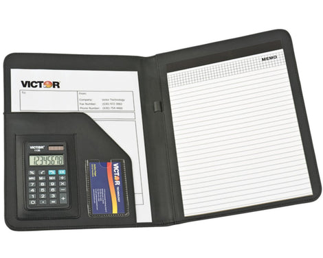 VICTOR 1135BK BLACK PORTFOLIO W/CALCULATOR (VCT1135BK)