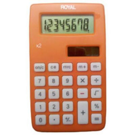 ADLX2 ROYAL X2 8 DIGIT DUAL POWER HANDHELD CALC