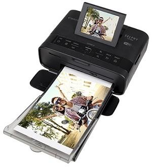 Canon SELPHY CP1300 Black Compact Photo Printer Bundle