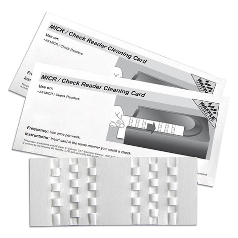 KICCRB15 KICTEAM MICR CHECK READ WAFFLE CLEAN CARDS-15ct