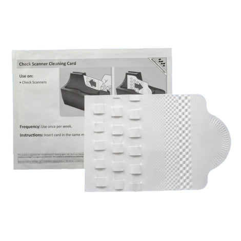 "KICCSB15WS KICTEAM 4"" CHECK SCAN WAFFLE CLEAN CARDS-15ct"