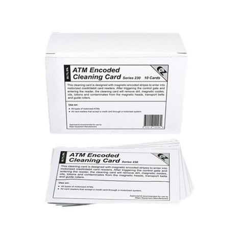 KICHEB10 KICTEAM ATM ENCODED CLEANING CARDS-10pk
