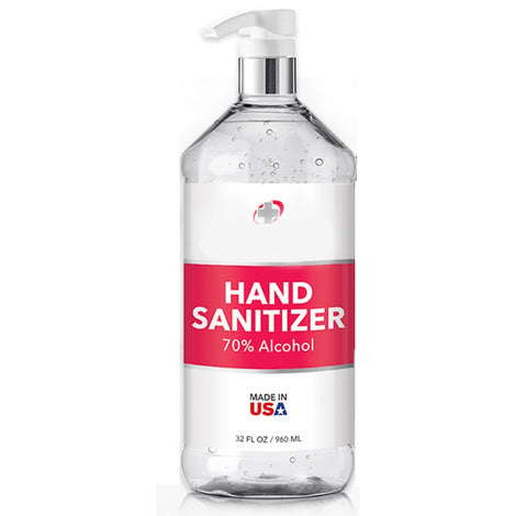 MG32oz MEDICAL GRADE 16OZ/480ML GEL SANITIZER/70%/PUMP/MADE IN USA