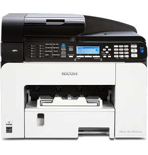 Ricoh SG 3110SFNw Color GELJET Multifunction Inkjet Printer (29ppm)