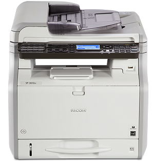 Ricoh SP 3610SF Black and White Multifunction Printer (31ppm) 407305