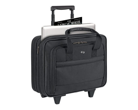 "SOLO Rolling Laptop Portfolio B100-4 - Notebook carrying case - 15.4"" - black (USLB100-4)"