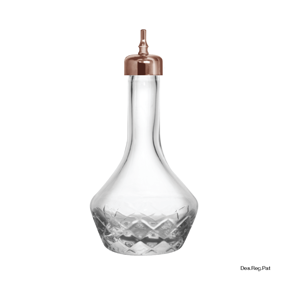 Bitters Bottle 90 mL Copper