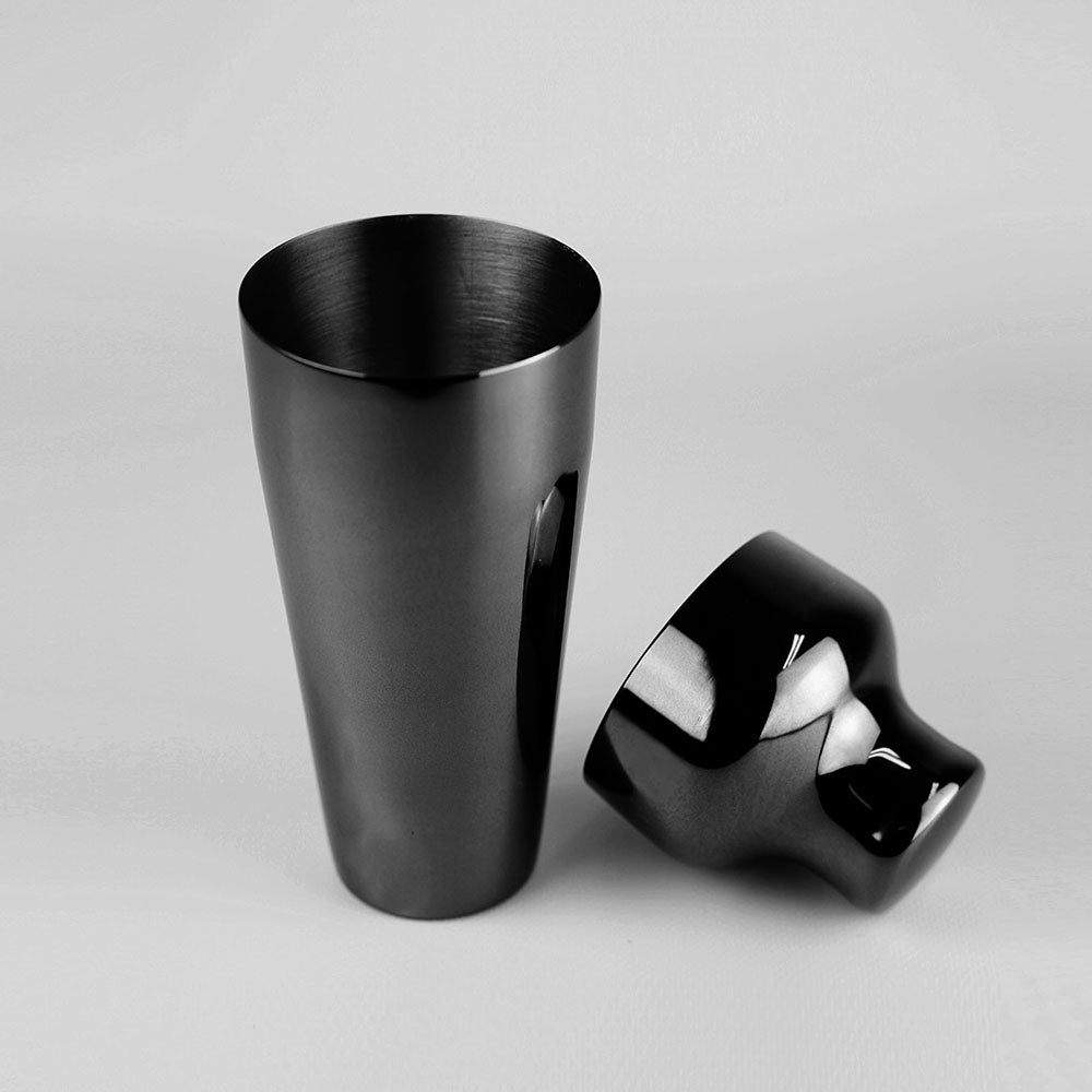 Shaker & Jigger Set Platinum Black