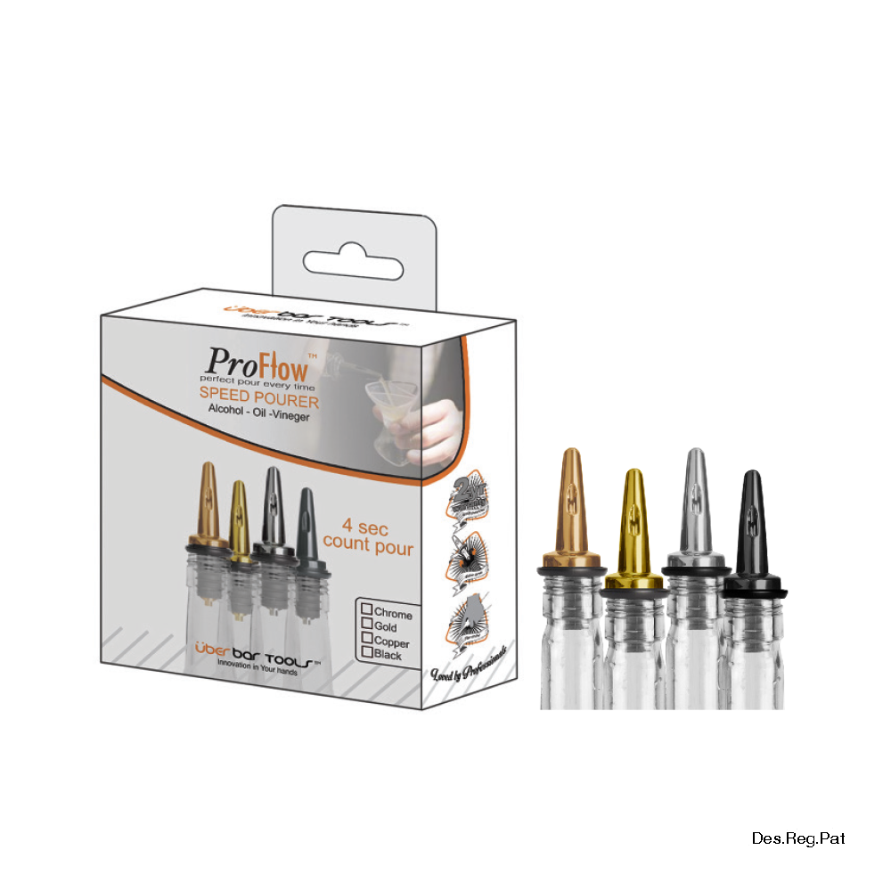 ProFlow™ Pack Chrome (4 Pce)