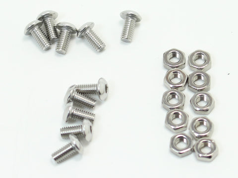 Bag of M3 screws (10x) and nuts (10x)