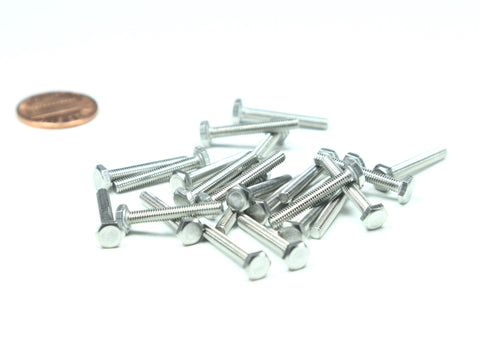 M3 x 0.5 x 20mm Hex Head Bolt, 25 Pieces