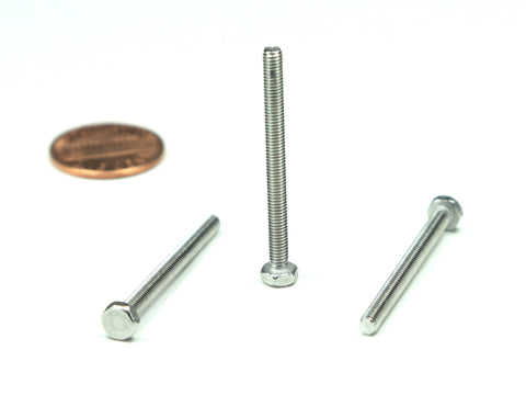 M3 x 0.5 x 35mm Hex Head Bolt, 25 Pieces