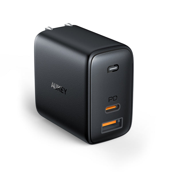 image from AUKEY Canada AUKEY Omnia Mix Dual-Port USB-C + USB-A PD 65W Charger (Black)