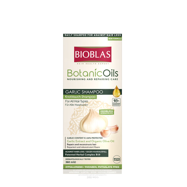 BIOBLAS BOTANIC OILS GARLIC SHAMPOO 360ML (5952374472864)