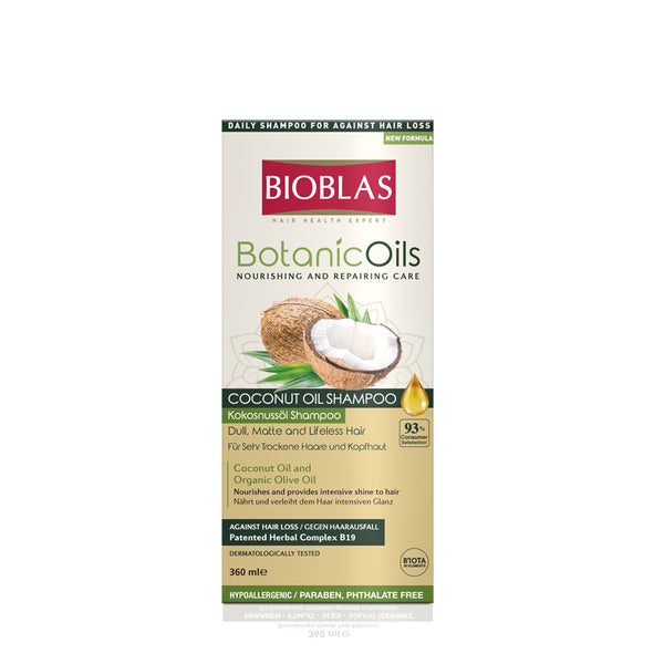 BIOBLAS BOTANIC OILS COCONUT OIL SHAMPOO 360ML (5952406225056)