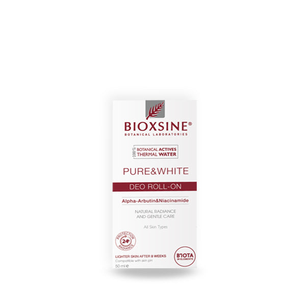 BIOXSINE PURE & WHITE ROLL ON 50ML (5684667515040)