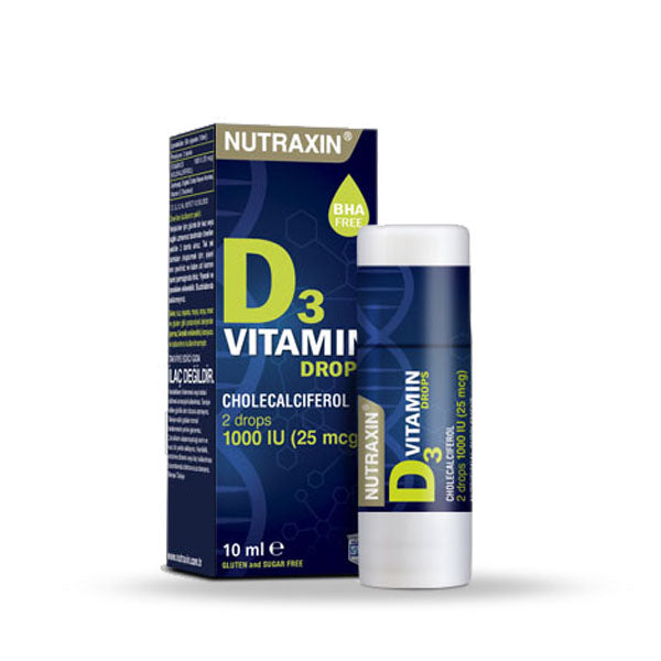 Nutraxin Vitamin D3 1000iu 25mcg Drops 10ml (5930947117216)