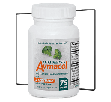 Sulforaphane Producing Supplement Avmacol Extra Strength 75 count bottle