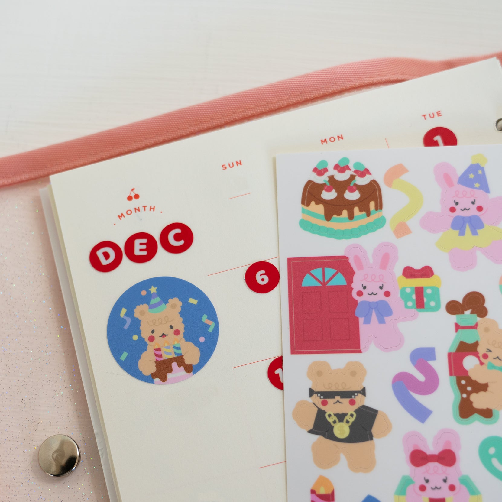 Birthday buddy sticker sheet