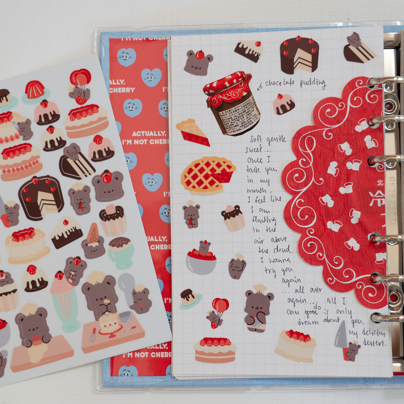 Bear bakery sticker sheet 2: bear bakery collection