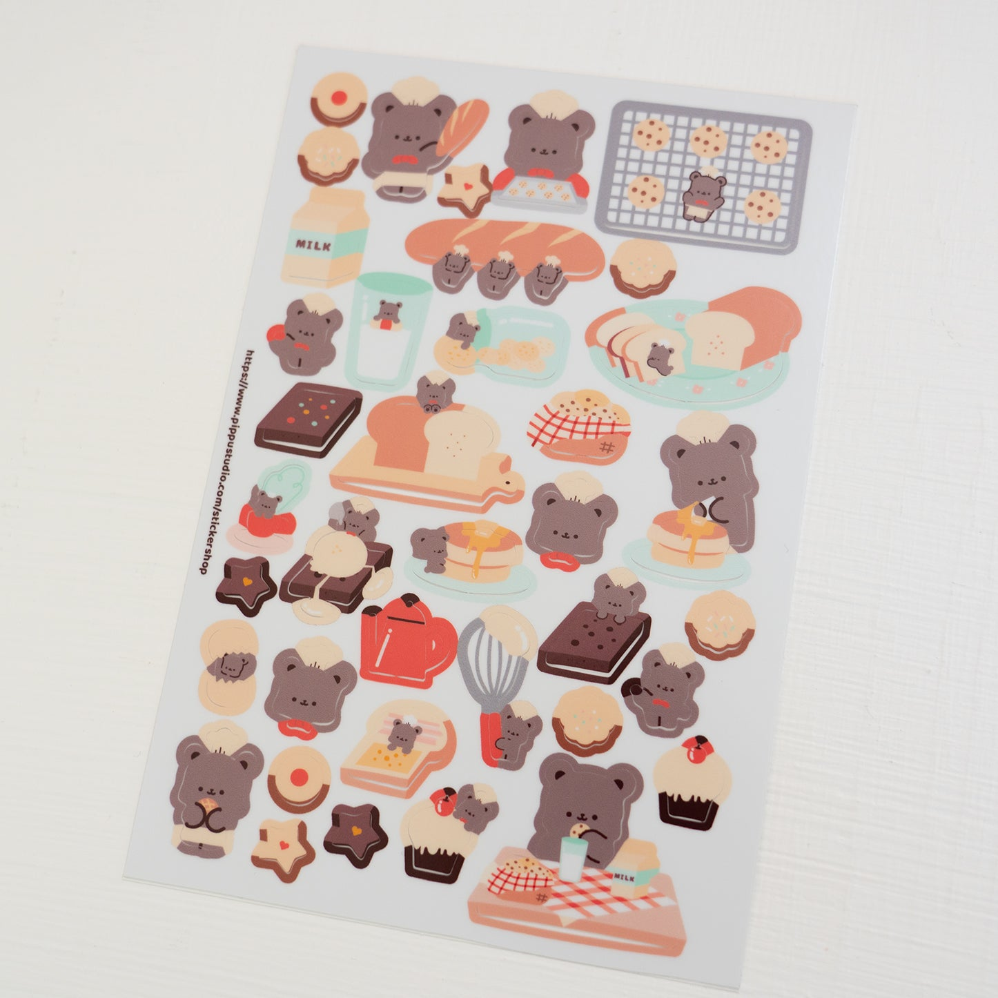 Bear bakery sticker sheet 1: bear bakery collection