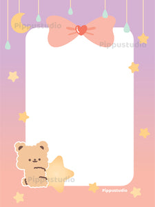 Star bear notepad