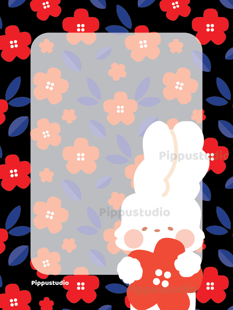 Missy and red flowers notepad