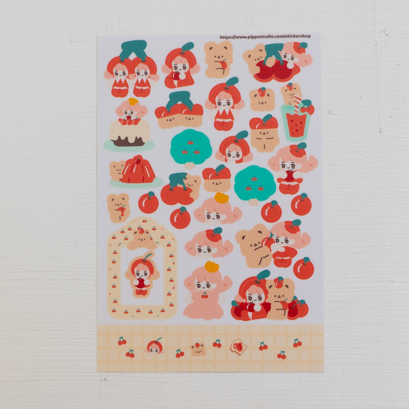 Cherry sticker sheet