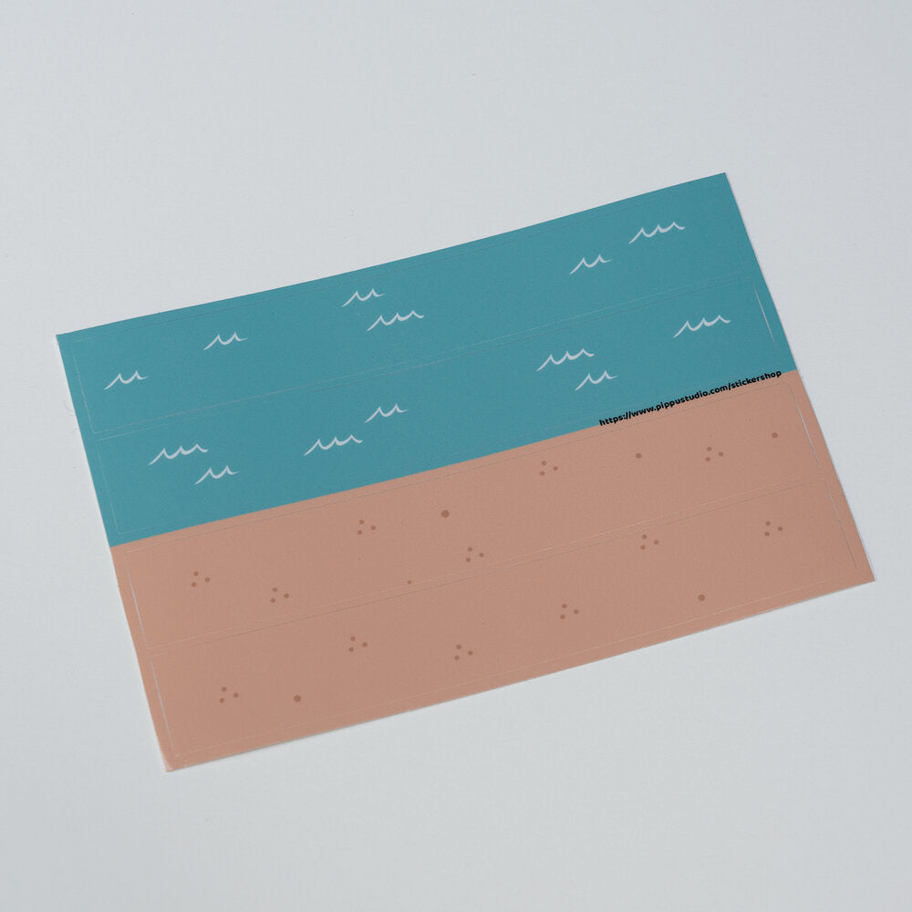 Sand and sea sticker sheet: beach bear collection