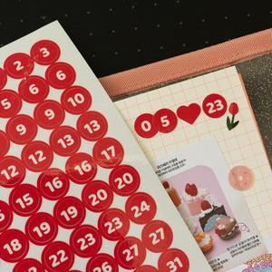 Number sticker sheet: sweet life collection