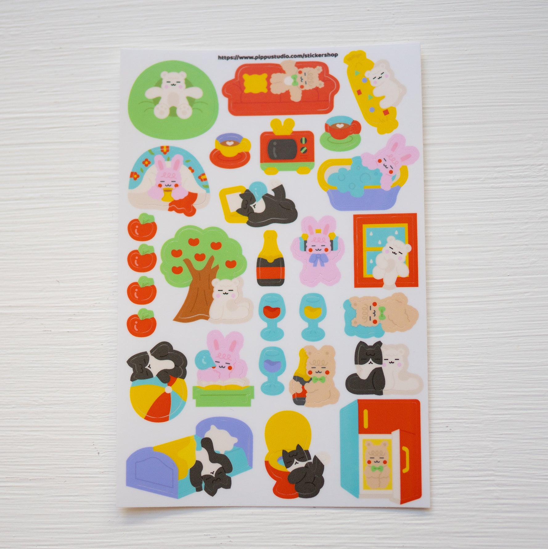 A96-Lazy day sticker sheet