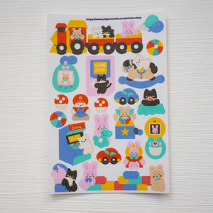 A97-Let's play sticker sheet