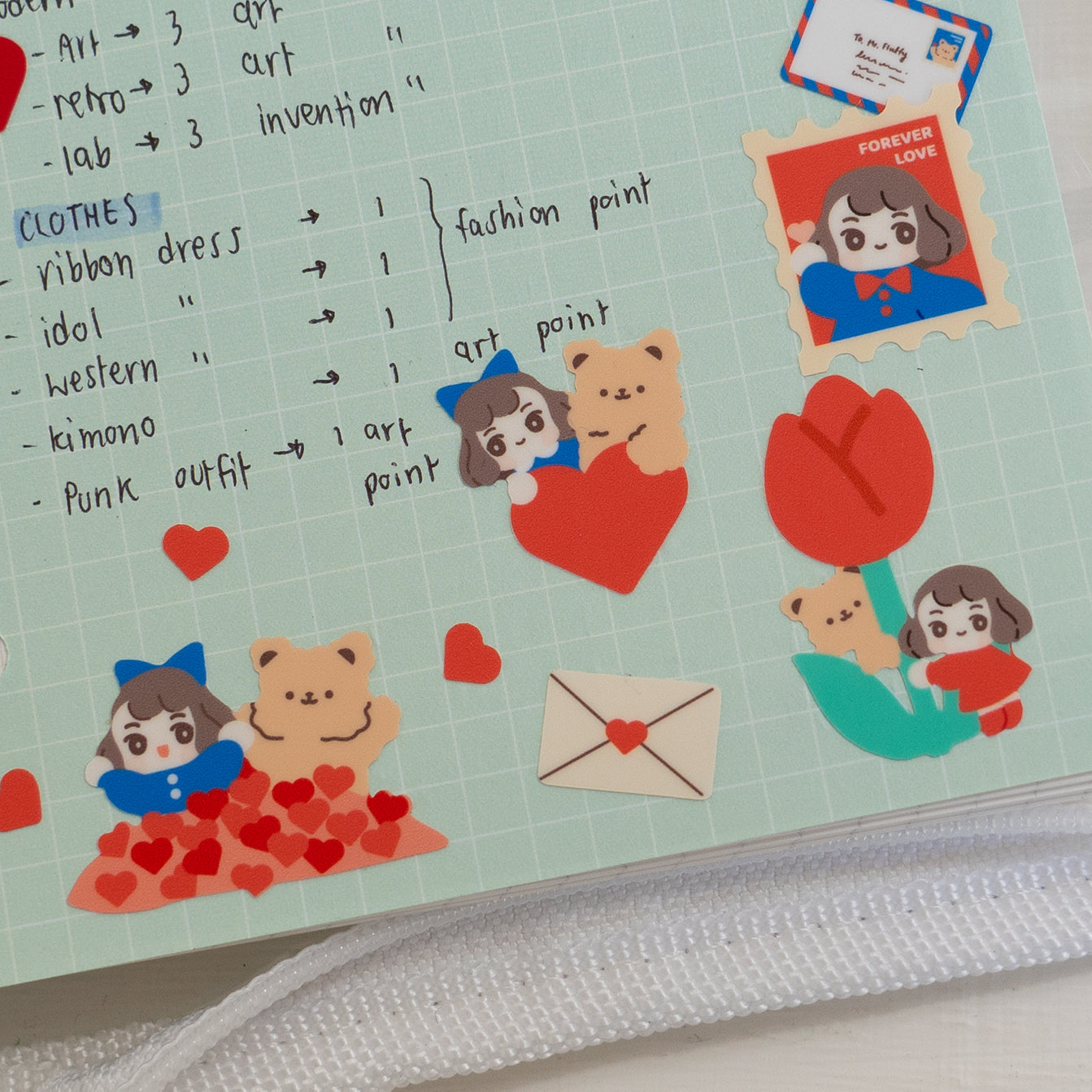 A41-Mail me love sticker sheet