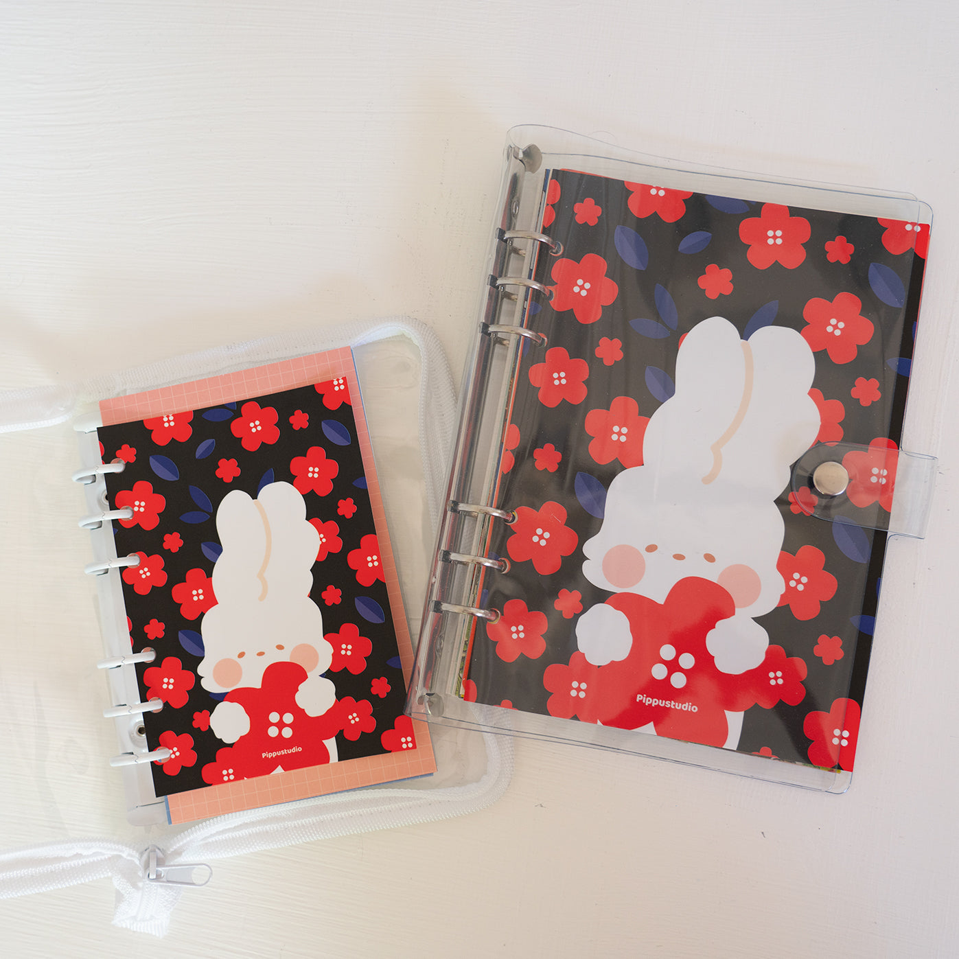 Missy and red flowers print