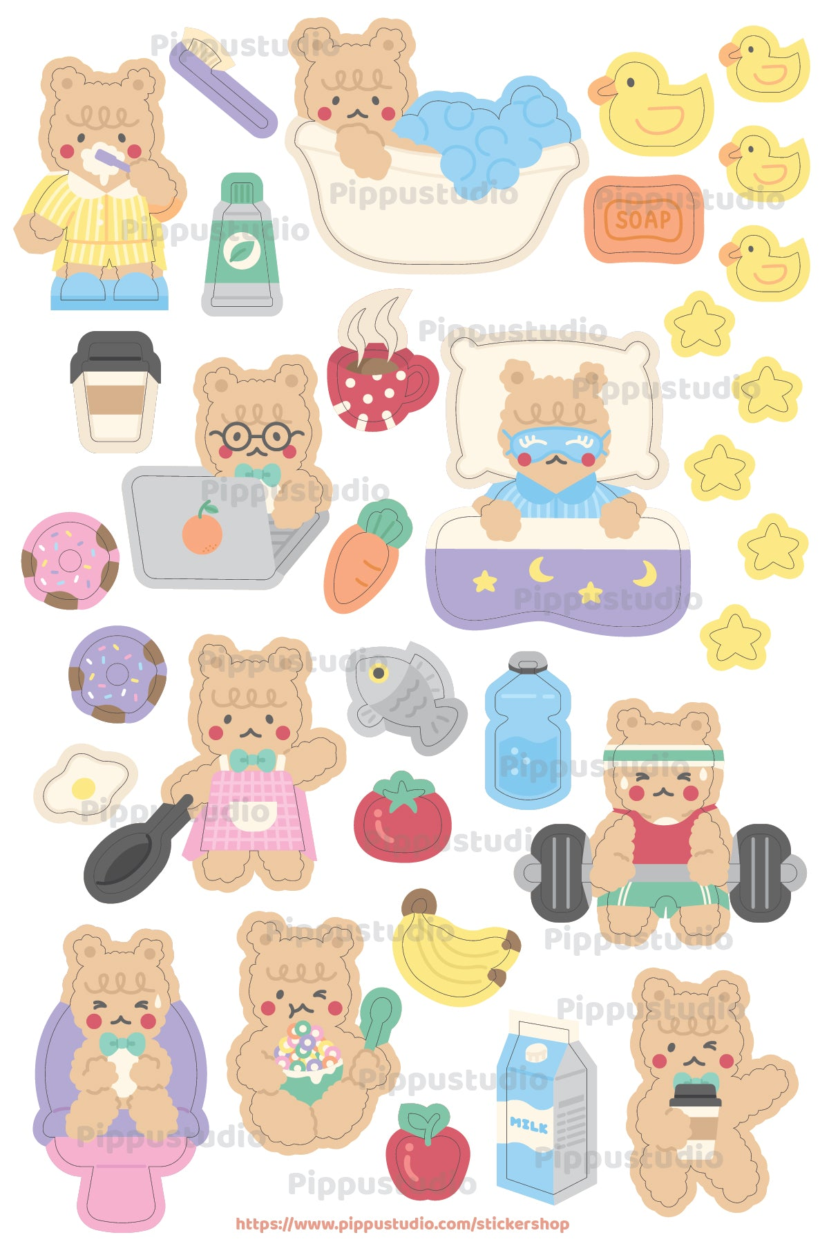 A55-Routine life sticker sheet