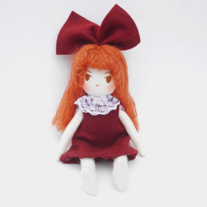 Myriam: Rag doll with yarn hair