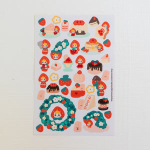 A47-Strawberry sticker sheet