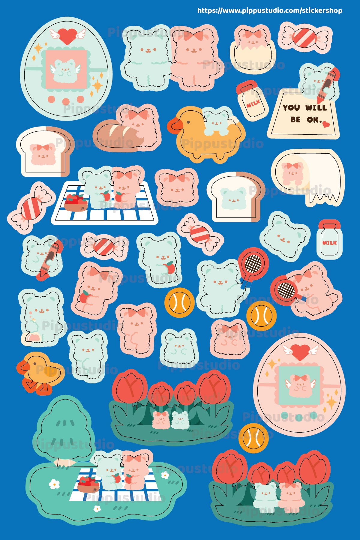 A50-Tamabear sticker sheet