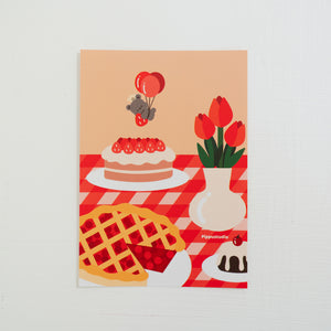 Cake and pie print: bear bakery collection