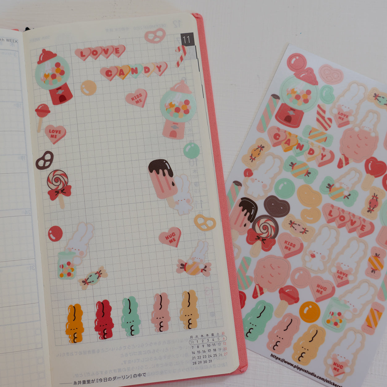 A32-Candy sticker sheet