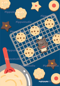 Cookie print: bear bakery collection