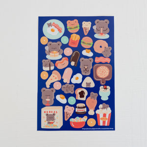 A24-Foodie sticker sheet