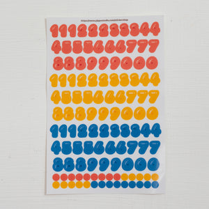 A63-Gummy number sticker sheet