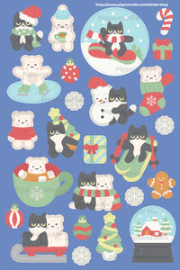 Hello winter sticker sheet