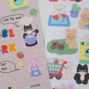 A87-Housework sticker sheet