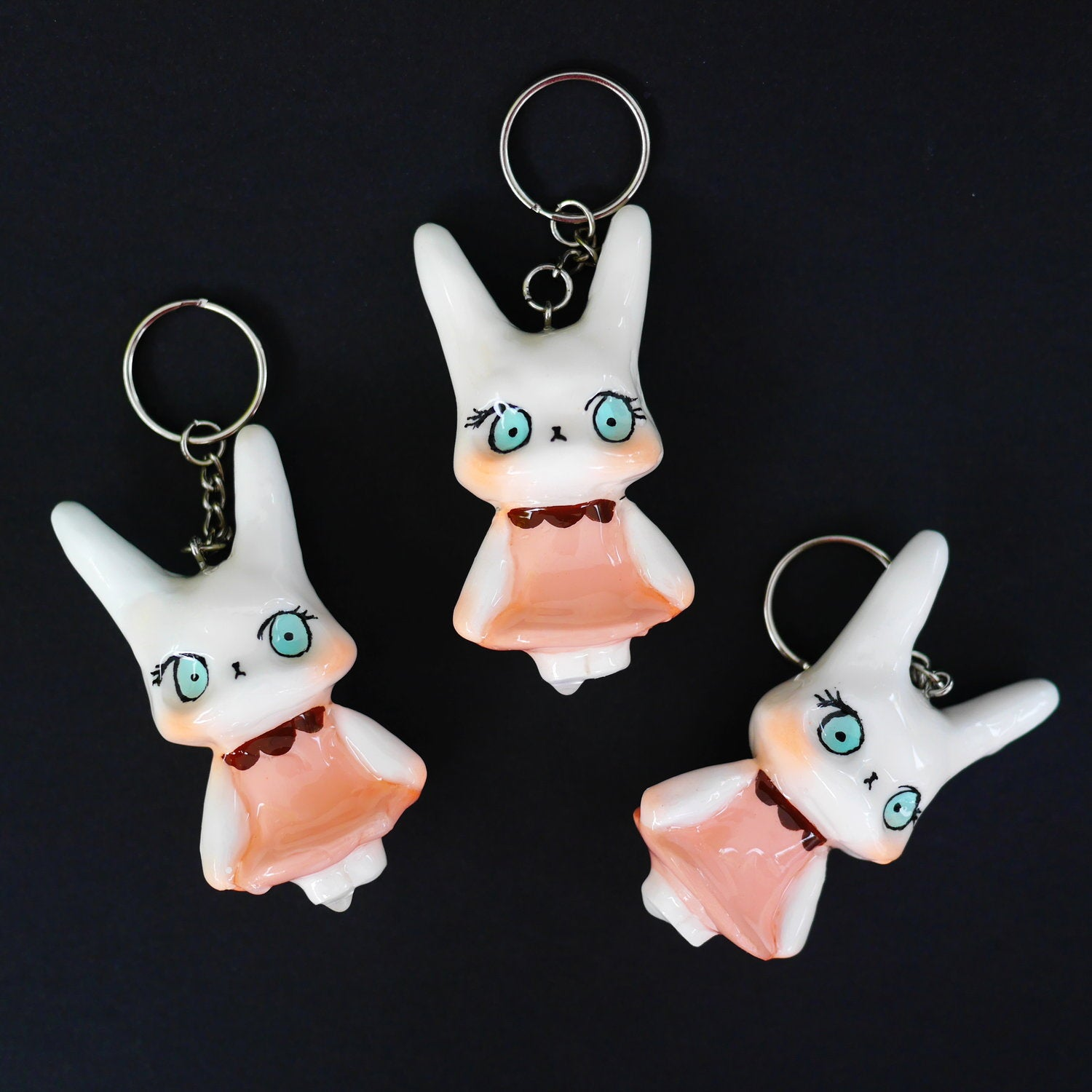 Candie keychain with glossy finish